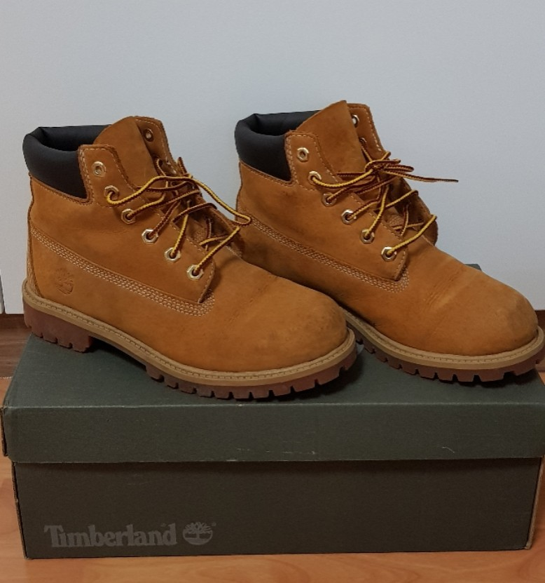 8fb507717ca2c Pre-loved Timberland 6 inc Yellow Iconic Boots, Babies & Kids, Boys ...