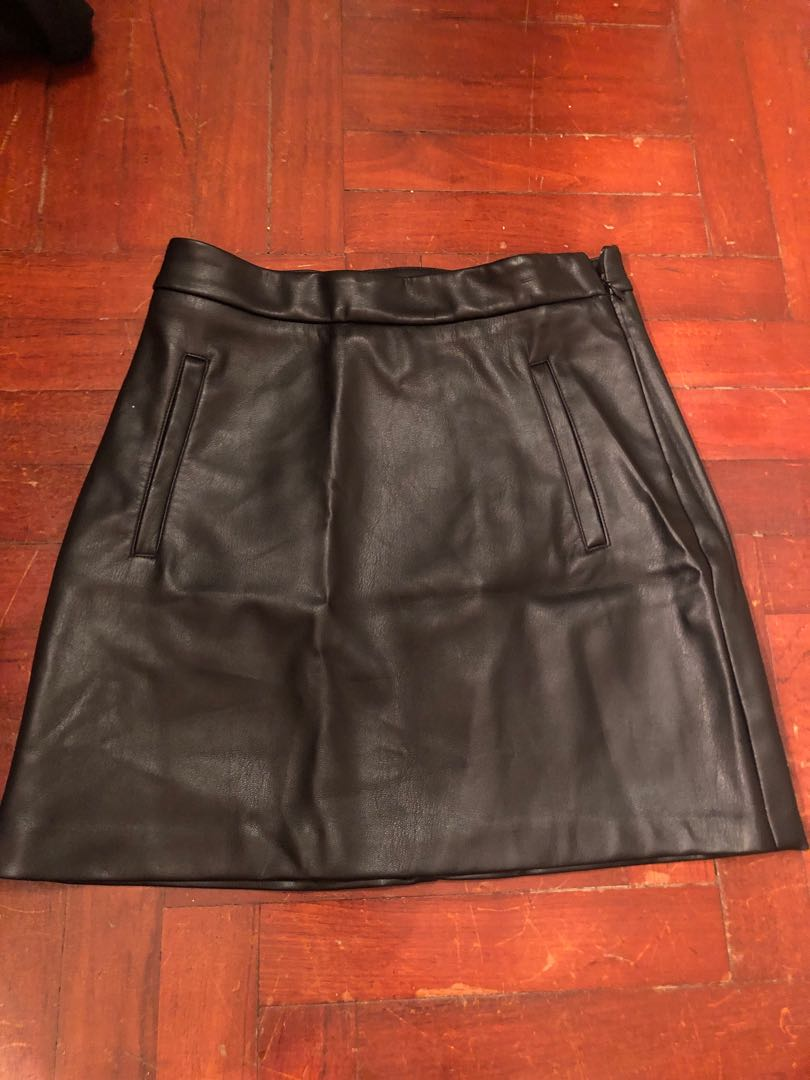 2020 official price utterly stylish Pull & Bear Faux Leather Skirt