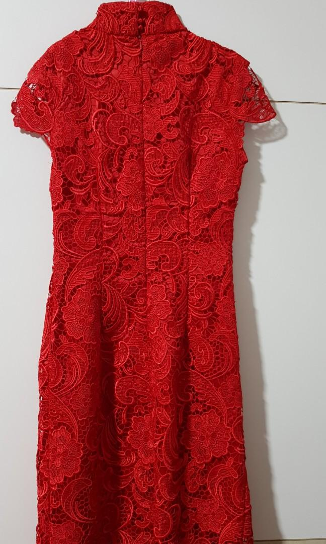 Red Laced Cheongsam