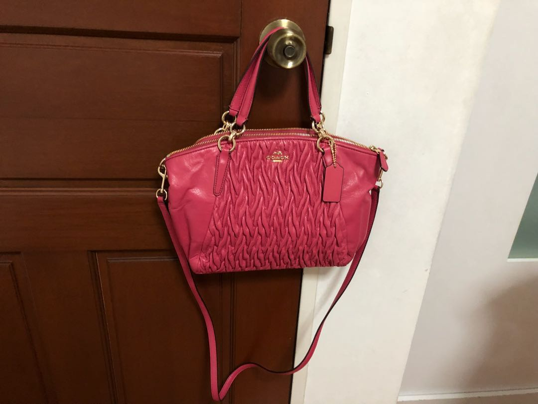 b7a1e73a6390 Reduced price) Authentic Coach F37081 Small Kelsey Satchel in ...