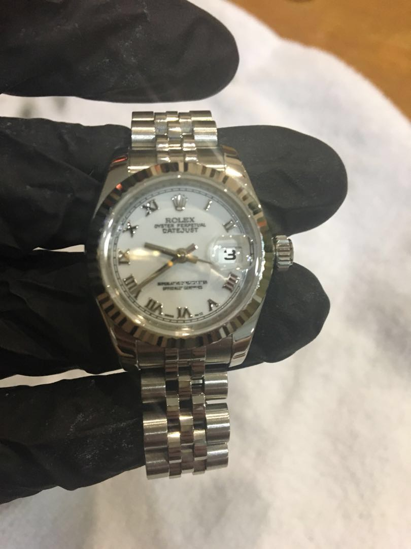 62e14c701fe Rolex 179174 28mm ladies datejust, Luxury, Watches on Carousell
