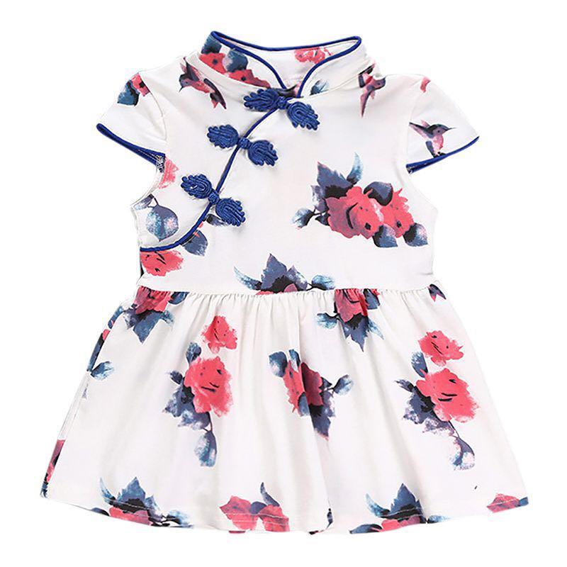 486a5a80351 Instock - blue floral cheongsam dress