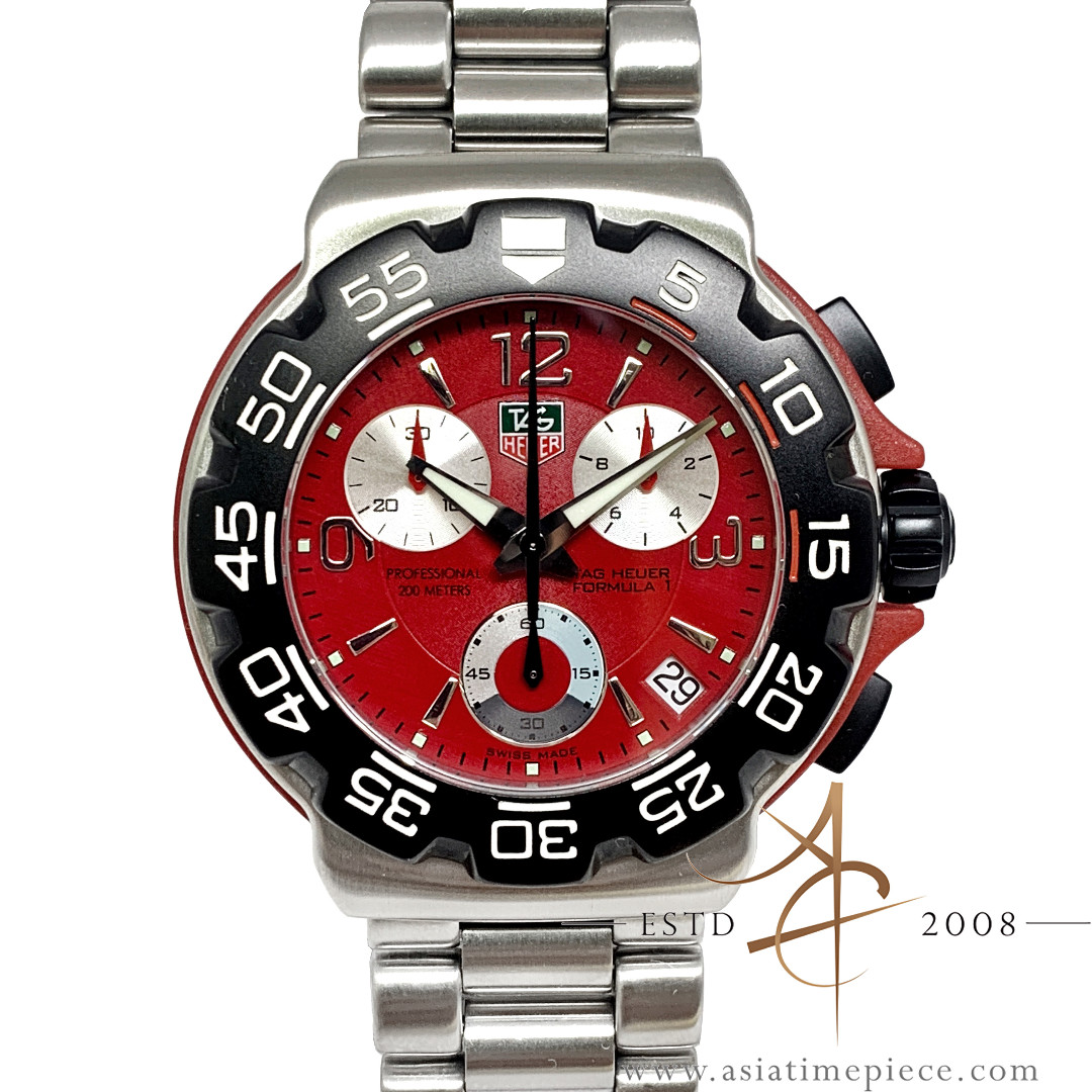 c22bbc8dff3 Tag Heuer Formula 1 Professional CAC1112 Red Chronograph Quartz ...