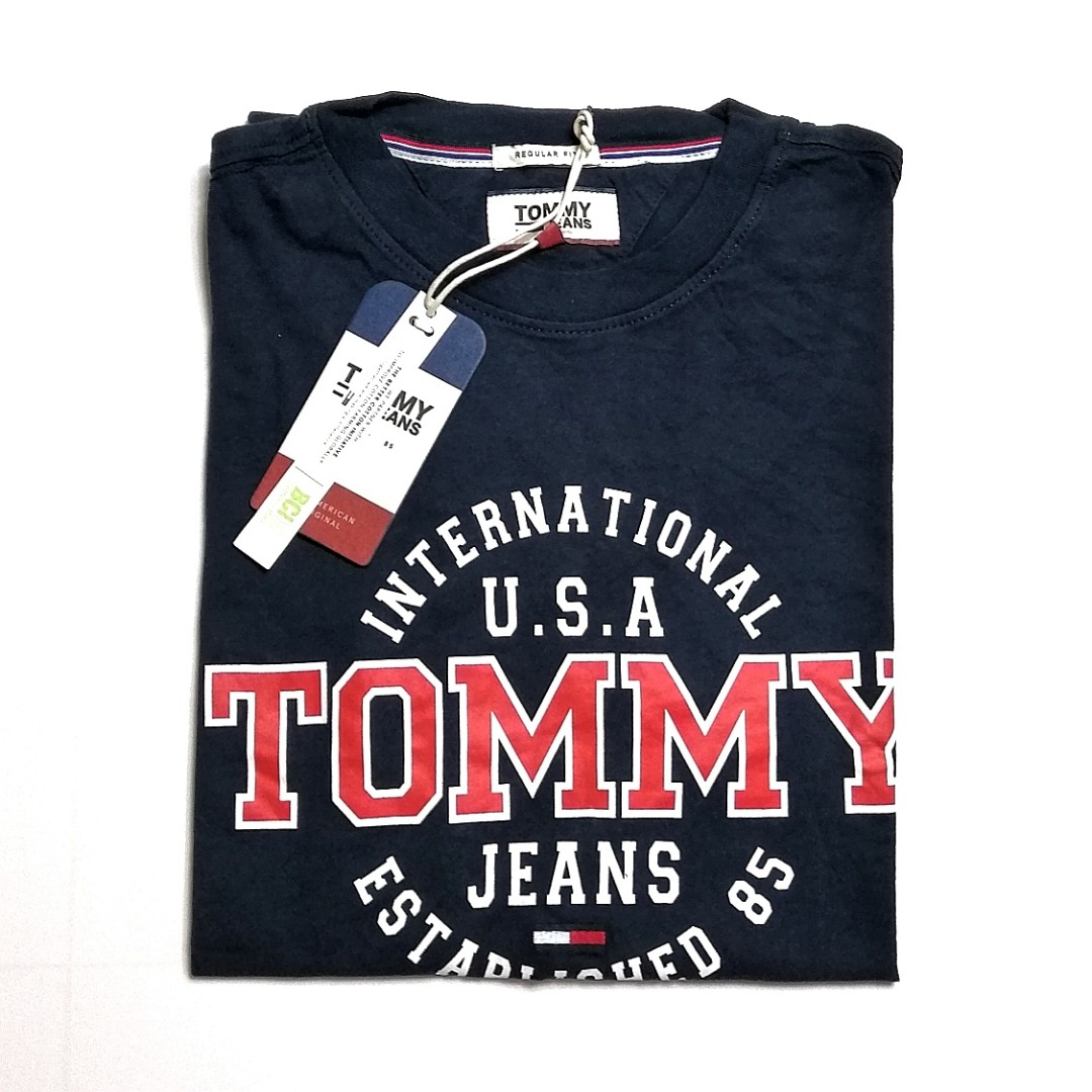 172401aeb Tommy Hilfiger Jeans T Shirt Circular Navy, Men's Fashion, Clothes ...