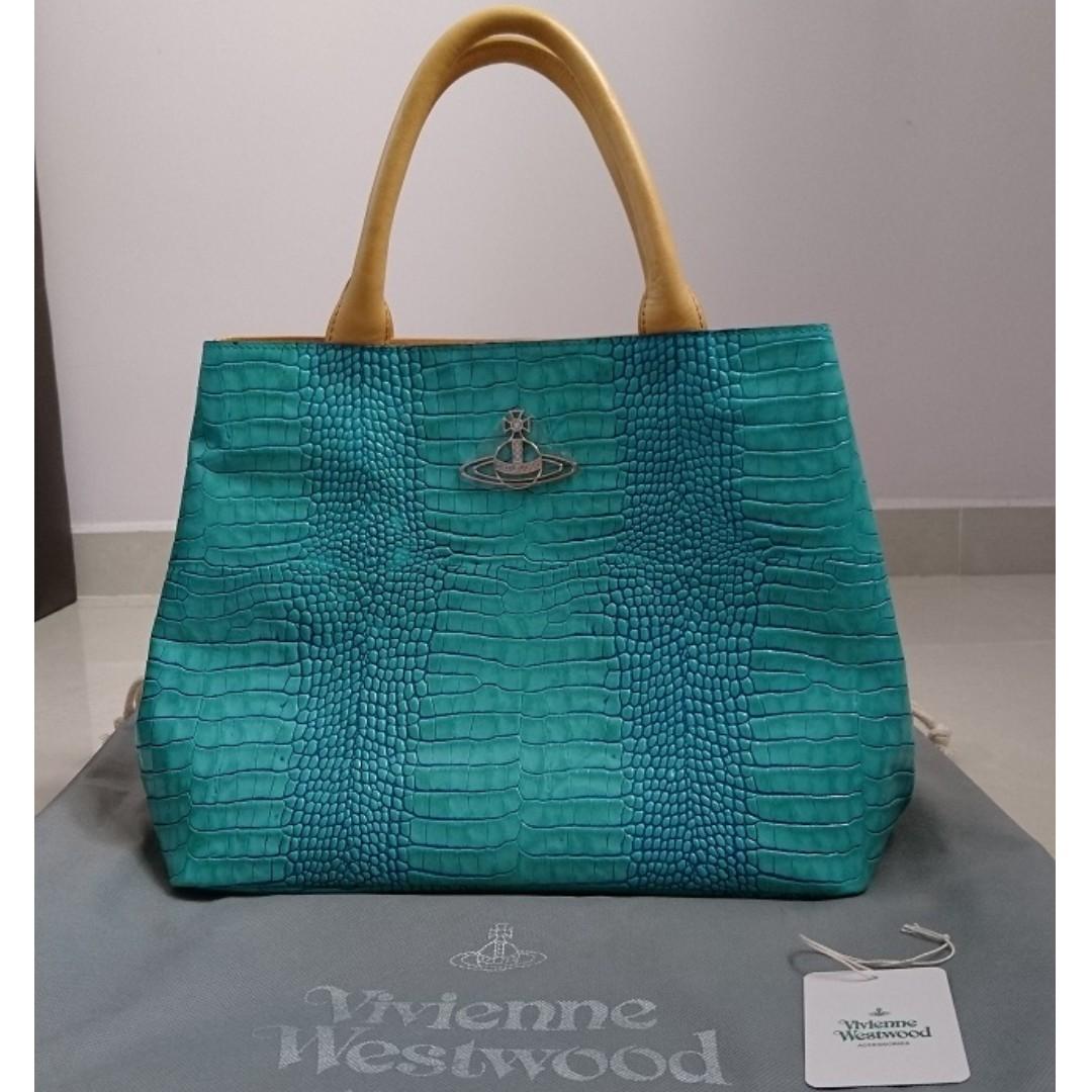 adb805c8c6 Vivienne Westwood Calf Leather Devon Tote Bag Japan Edition, Luxury ...