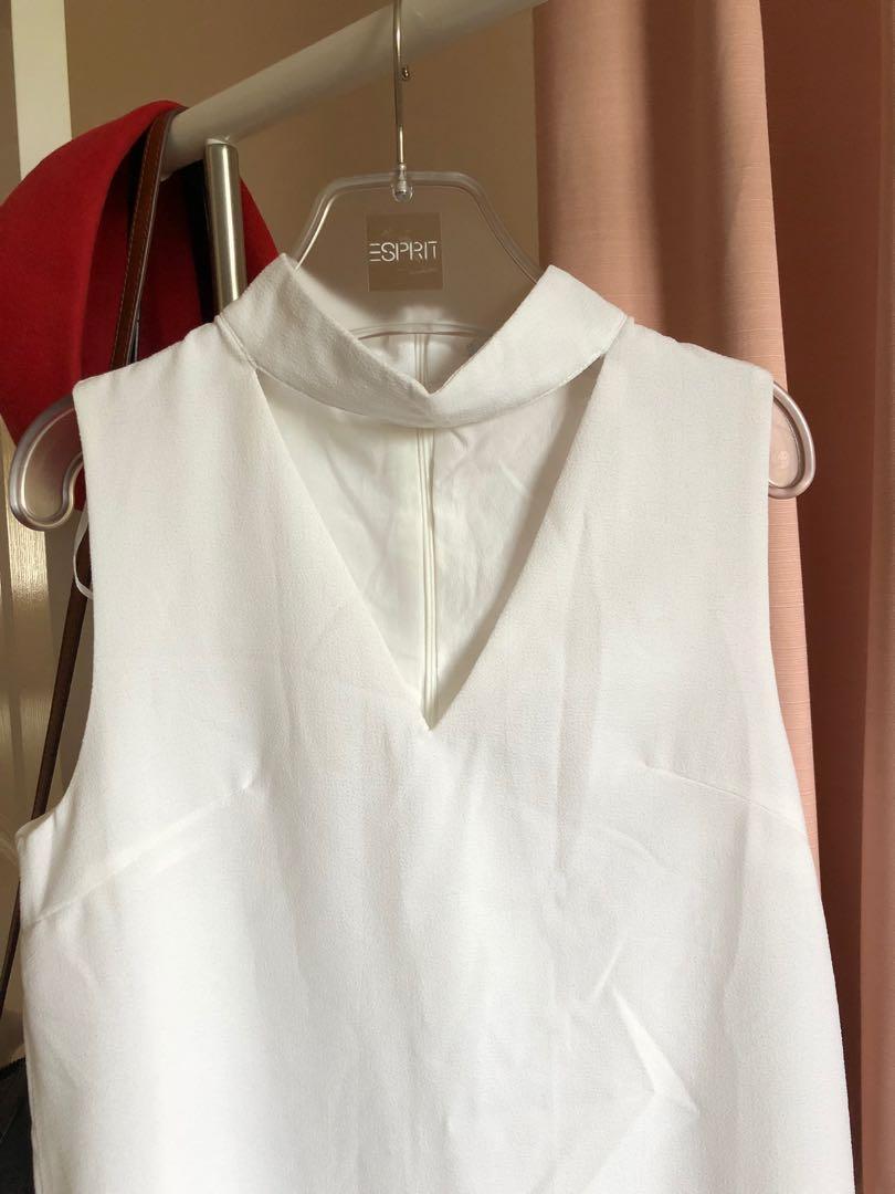White Closet White Choker Dress