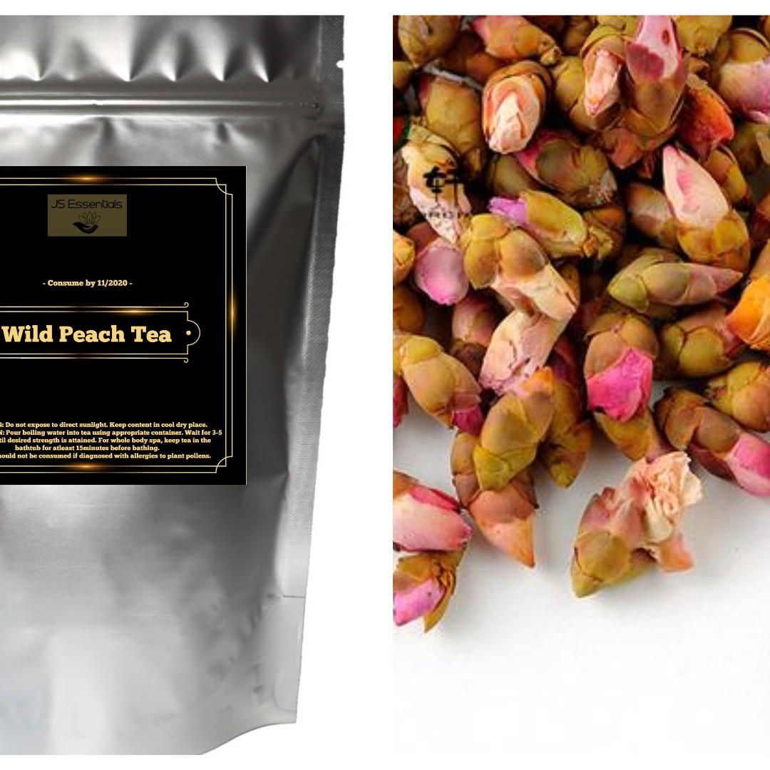 Wild Peach Flower Tea | Dried Wild Peach Blossom Flower Bud on Carousell