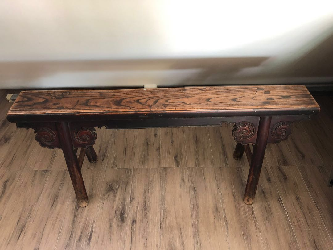 Wts Antique Solid Wood Bench