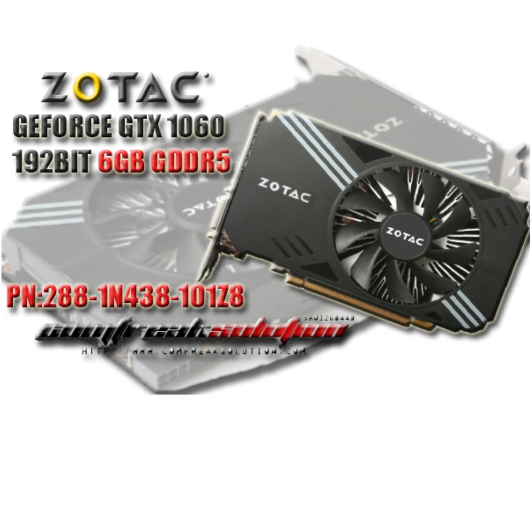 LIMITED SALES - ZOTAC GEFORCE GTX 1060 6GB 192BIT GDDR5 MINI