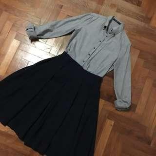 G2000 Grey Formal Button Down Shirt/ Blouse