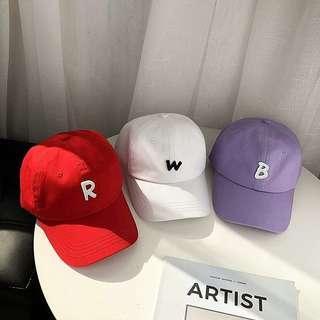 英文字母刺繡帽子
