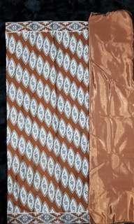 Kain meter brown batik