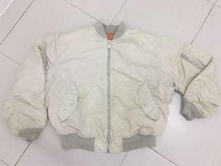 Uniqlo White Bomber Jacket