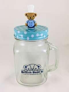 🚚 英國熊造型玻璃杯
