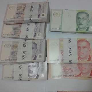 Singapore Polymer $2 $5 $10 New Unc Notes
