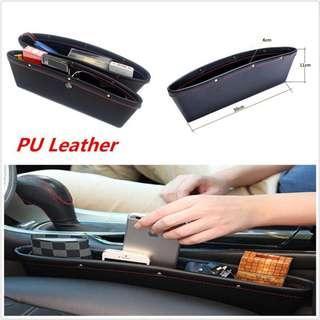 PU Leather Car Seat Gap Pocket Storage Holder
