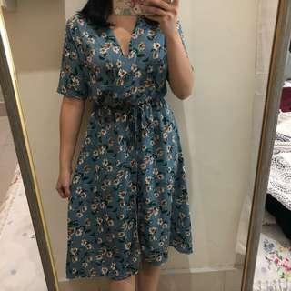Floral jumpsuit dress