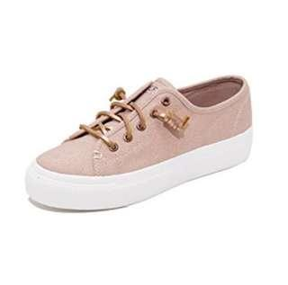 Sperry sky sail metallic shimmer pink sneakers shoes