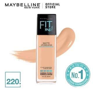 Maybelline Fit Me Matte and Poreless Foundation -220 Natural Beige