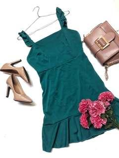 Zaful inspired Casual Emerald Dress