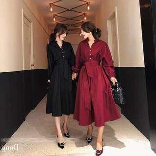 🚚 全新黑色綁帶洋裝