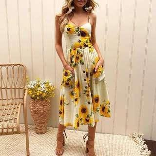 Floral Beach Dress #jan50