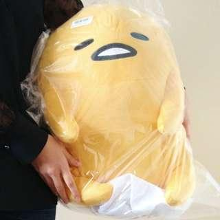 Large Jumbo sitting Gudetama plush stuffed toy