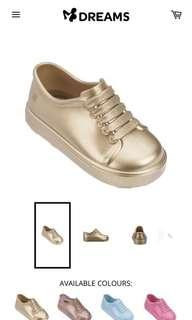 BN mini melissa be bb gold shoes size US9