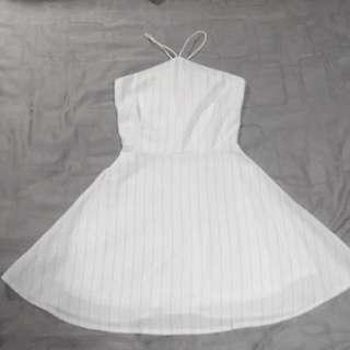 FYN Halter Stripe Dress