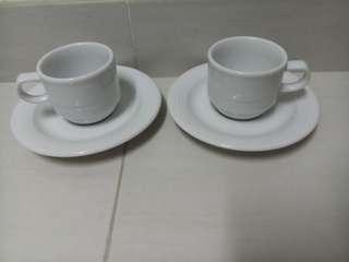 特濃咖啡杯連底碟2套,德國制