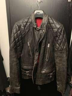 All saint Leather Jacket 皮䄛 牛皮羊仔皮