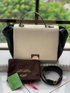💯Guaranteed Authentic Kate Spade Tri-Color like Celine trapeze Bag Pre-loved Good Condition 9/10 #CNY888