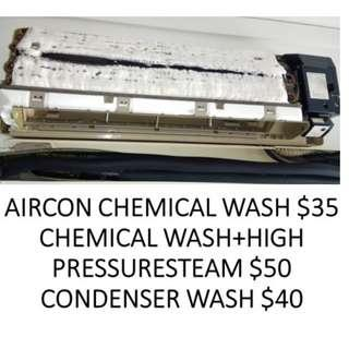 Aircon NOT COLD,BAD SMELL NORMAL/CHEMICAL CLEANING SERVICE
