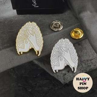 [AVAIL] Her Prime Rib Enamel Pins - Silver, Gold