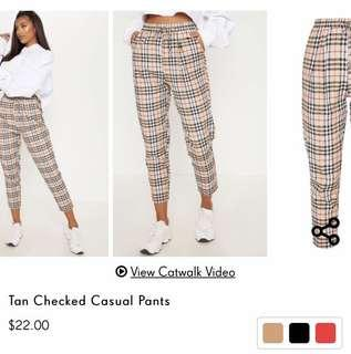 PrettyLittleThing Checked trousers