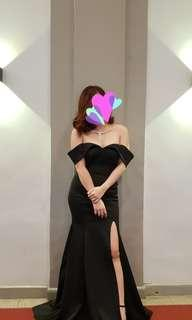 Black Long Gown With Slit (FOR SALE)