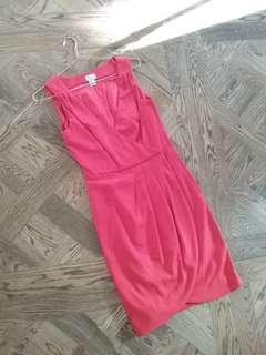 H&M Red Dress Size Euro 34