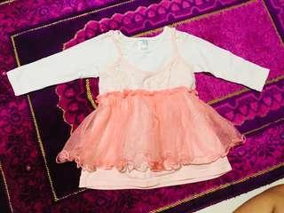 #jualanibu dress peach renda