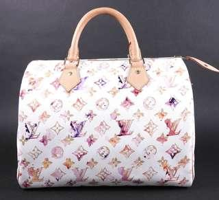 Authentic louis vuitton speedy 30 watercolor limited edition