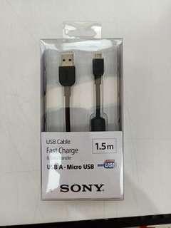 🚚 SONY  micro 1.5M高速傳輸充電線  全新