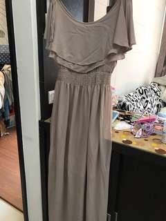 🚚 豆沙色長版洋裝