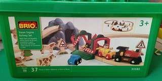 Wooden train toy set