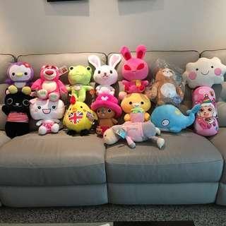 🚚 《ㄧ隻159,兩隻299》 熊娃娃 抱哥 喬巴 饅頭家族 青蛙 娃娃 貓咪 鯨魚 公雞 喜羊羊