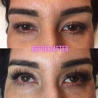 Valentines special classic full set eyelash extentions