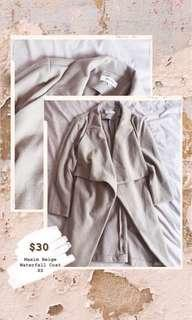 Beige waterfall coat Xs