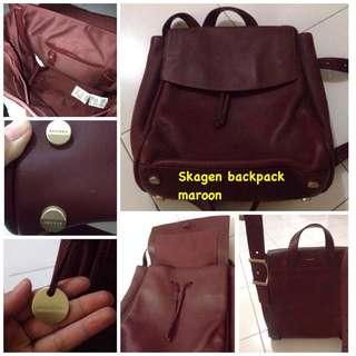 Skagen backpack original maroon