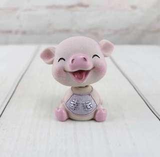 🚚 Creative Car Decor Swinging Ornament Piggy Doll for 2019