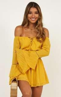Mustard Playsuit- Brand New