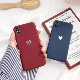 iPhone X Red Silicone Case