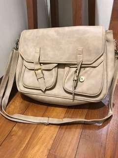 Brown messenger sling bag office